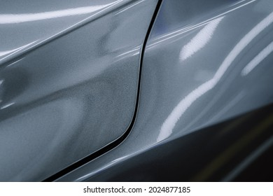 gray car panel with details