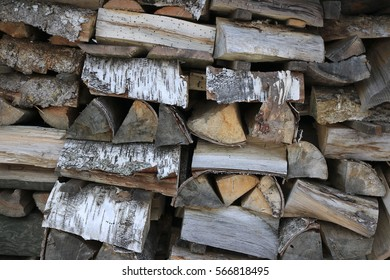gray chopped firewood
