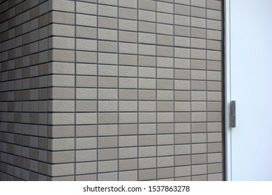 Gray color Outer wall siding and door