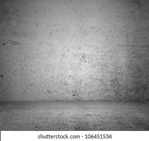 gray concrete  floor and wall