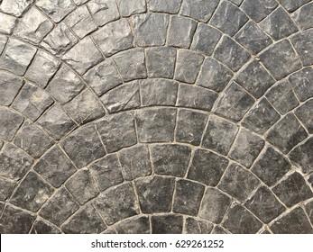 Gray concrete stamp outdoor floor design texture