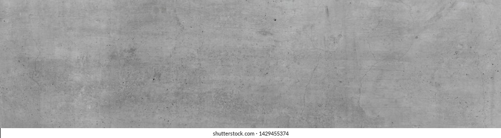 Gray Concrete Wall, Gray Background, 16: 9 widescreen, Industrial Design Background, Textured Texture. Concrete wall texture with slightly dark vignette