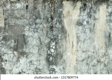 Gray concrete wall with grunge for abstract background