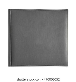 Gray cover book isolated on white