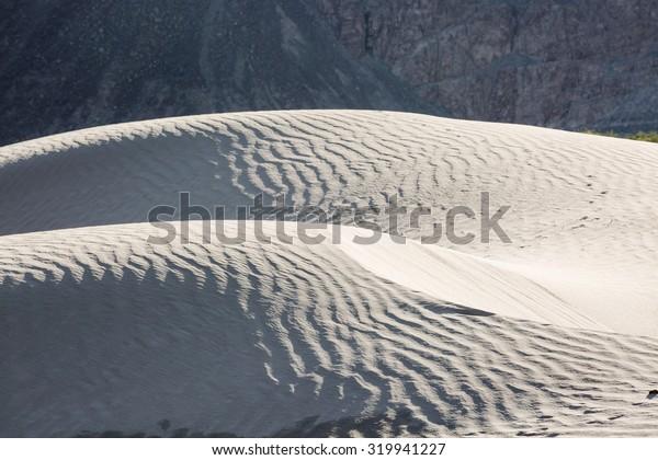 Gray desert dunes