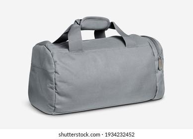 Gray duffle bag unisex accessory