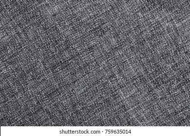 Gray fabric closeup canvas pattern background.