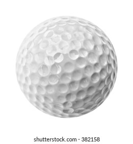 a gray golf ball