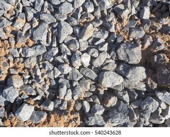 Gray gravel for construction.