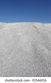 Gray gravel mound