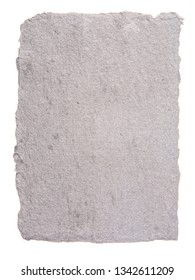 Gray Handmade Paper on a White Background
