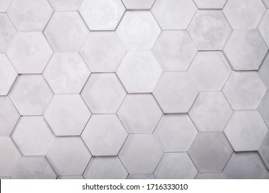 Gray Hexagon Background wall Texture