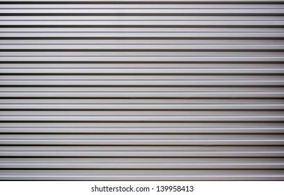 Gray horizontal metal sheet texture wallpaper