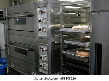 Gray industrial bakery oven