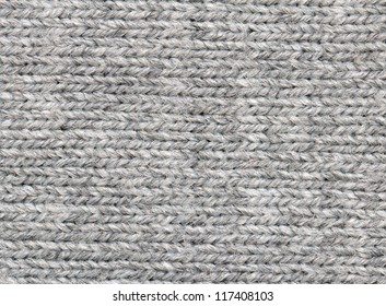 Gray knitted fabric background