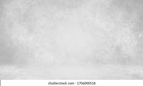 Gray light background backdrop studio, wall and floor with texture.
