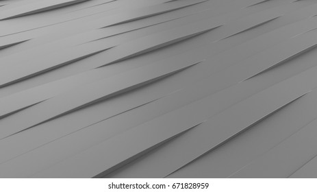 Gray lines background, 3D illustration
