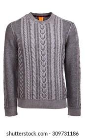 gray male sweater