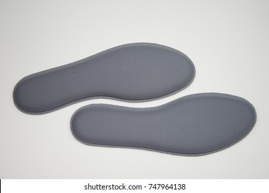 gray Memory Foam  Shoe Insoles on white  background
