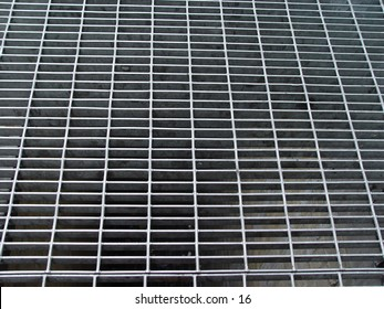 A gray metal grating
