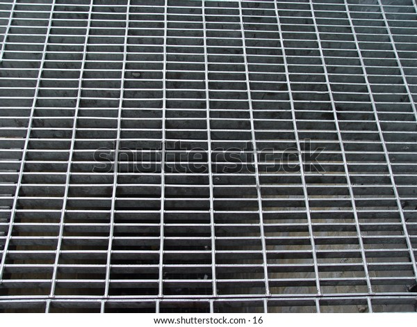 A gray metal grating