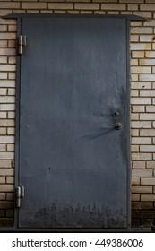 gray metallic doors
