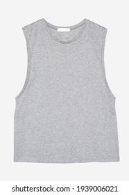 Gray muscle shirt streetwear fashion