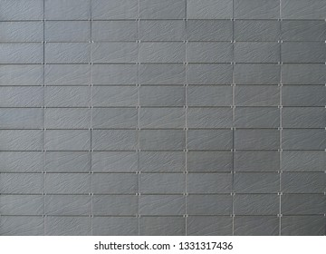 Gray natural stone tiles for modern ventilated building facade or walls