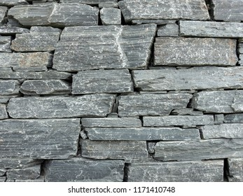 Gray natural stone wall