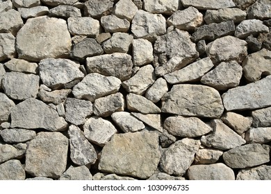 Gray old stone wall decor background