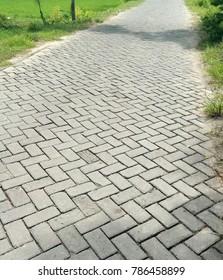 gray pedestrian street texture pattern