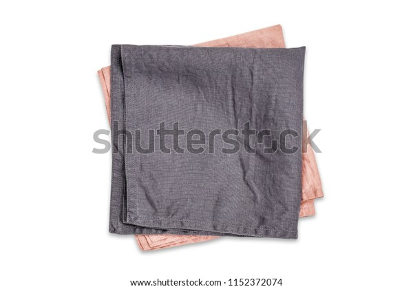a2d6c52da Gray Pink Linen Kitchen Napkins Isolated Stock Photo (Edit Now ...