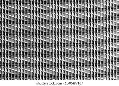 Gray plastic mesh fabric pattern. Geometric texture for graphic design backdrop.