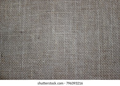 Gray sackcloth background with visible texture