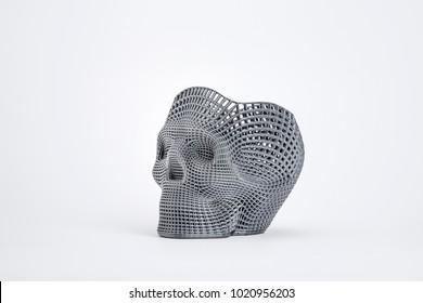 gray skull isolated On White Background