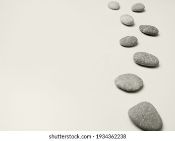 gray spa background with grey stones