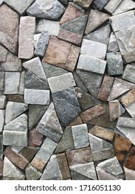 Gray stone mosaic wall for decorative ornament background