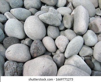 Gray stones at the seaside