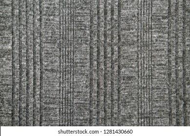 Gray sweater fabric in full frame