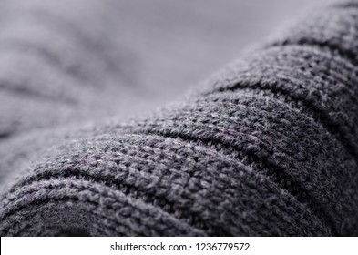 Gray sweater fabric texture textile warm cloth macro blur background
