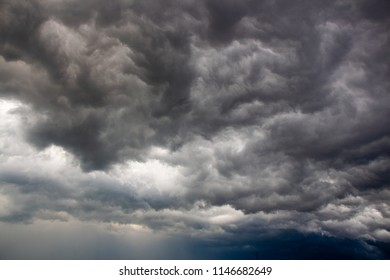 gray swirling clouds before the storm