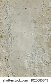 Gray Textured Plaster Wall. A Dilapidated Layered Surface. Cement, Mmortar Texture Background.