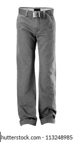 gray trousers for man,isolated