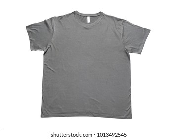 Gray t-shirt isolated on white background