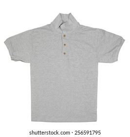 gray tshirt  isolated over white