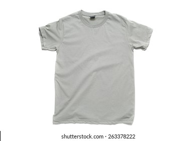 Gray tshirt template ready for your own graphics.