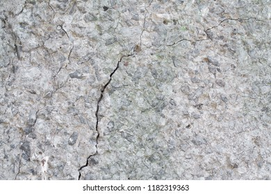 gray wall background and texture with crack abstract