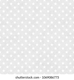 Gray and white stars seamless pattern background with texture