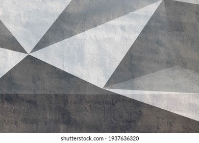 Gray and white triangle pattern texture