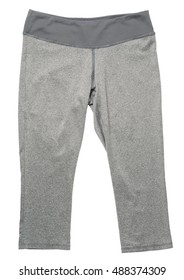 Gray  women's athletic pants on white